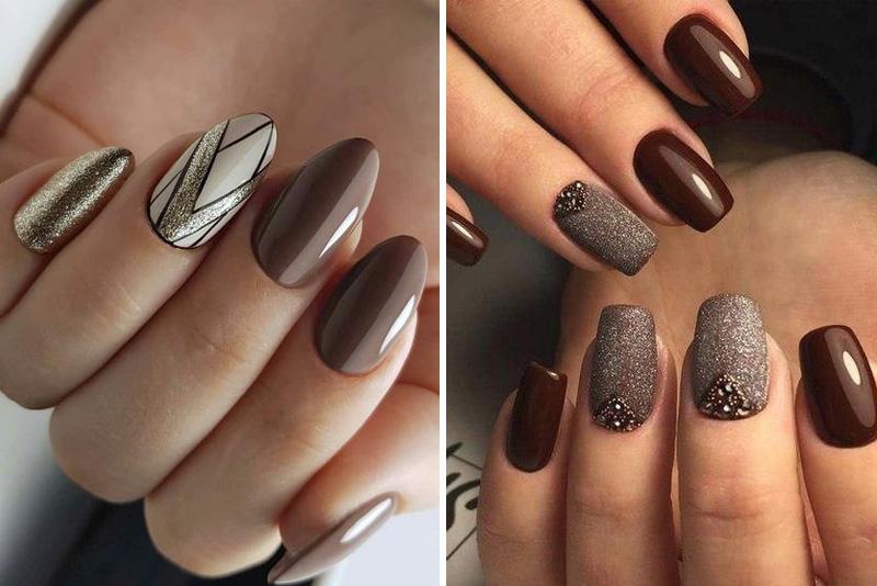 Brązowe paznokcie – idealne na jesień 2019