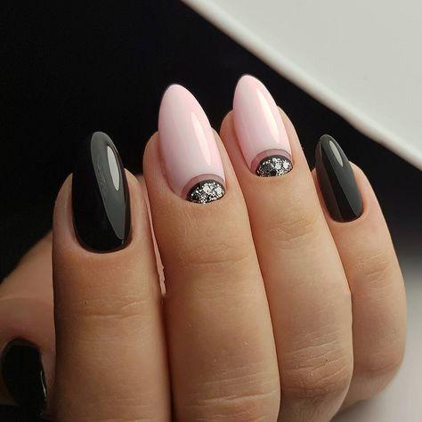 Eleganckie czarne paznokcie
