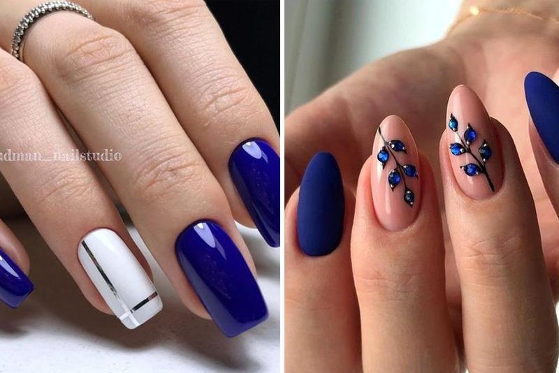 Granatowe paznokcie – niesamowite inspiracje 2019