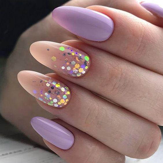 Wrzosowe paznokcie