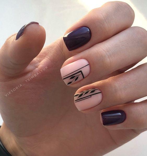 Burgundowe paznokcie na jesień