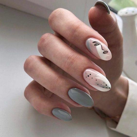 Szare paznokcie na jesień