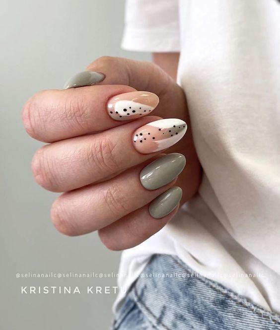 Zielony manicure na jesień