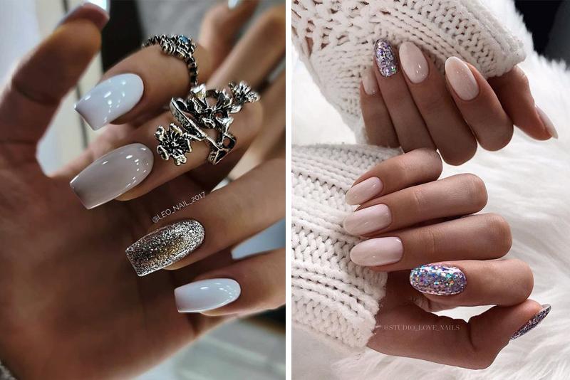 Manicure z brokatem – TOP 14 inspiracji
