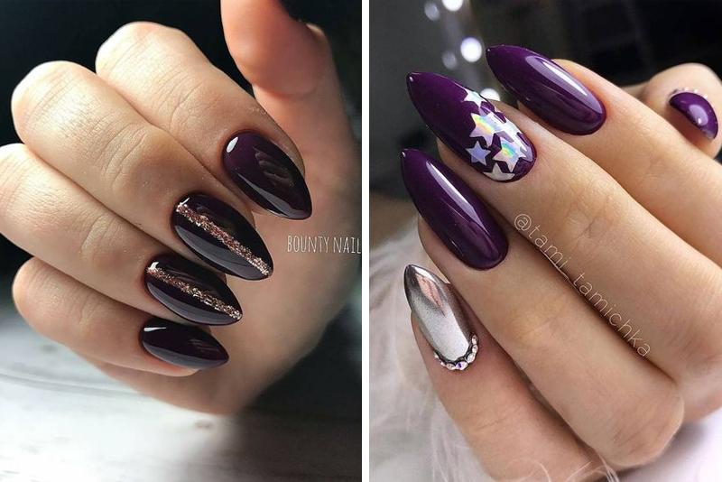 Ciemne paznokcie w modnej odsłonie – TOP 14 pomysłów