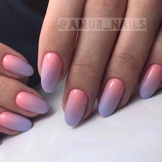 Kolorowe paznokcie z ombre