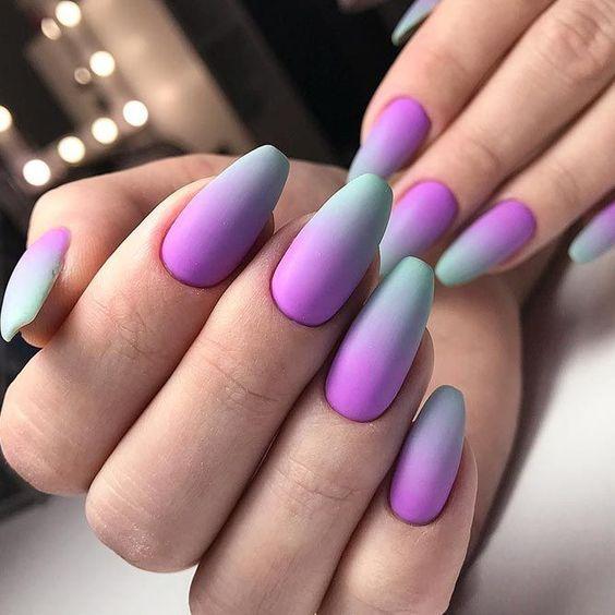 Matowe paznokcie z ombre
