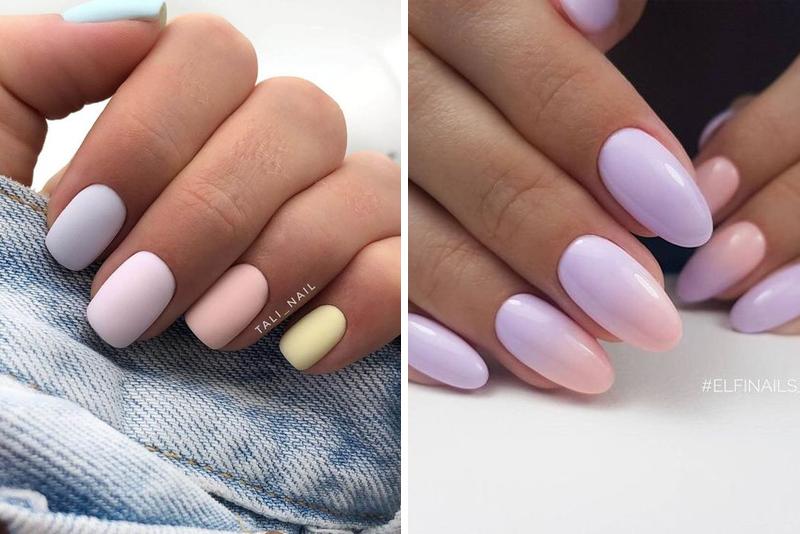 Pastelowy manicure – TOP 16 modnych pomysłów