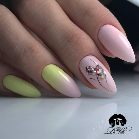 Pastelowy manicure z ombre