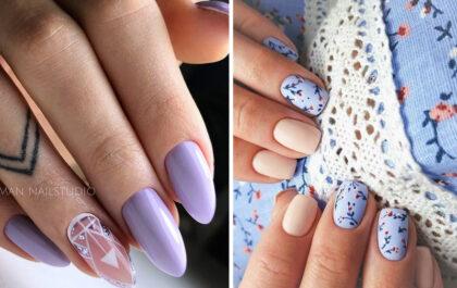 Lawendowe paznokcie - 13 stylowych inspiracji