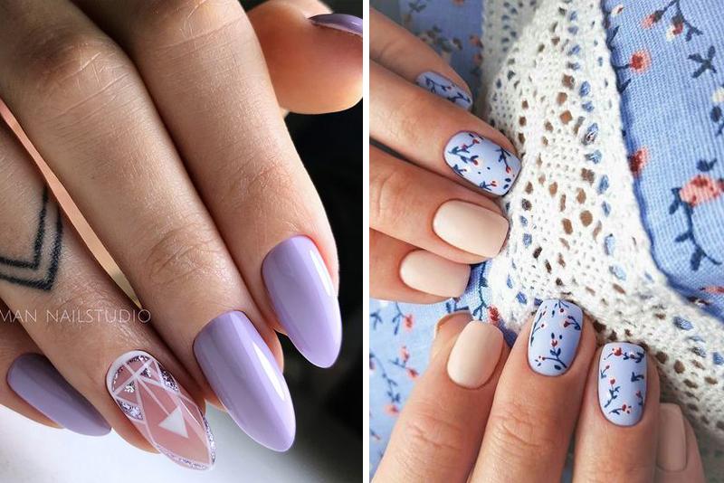 Lawendowe paznokcie – 13 stylowych inspiracji