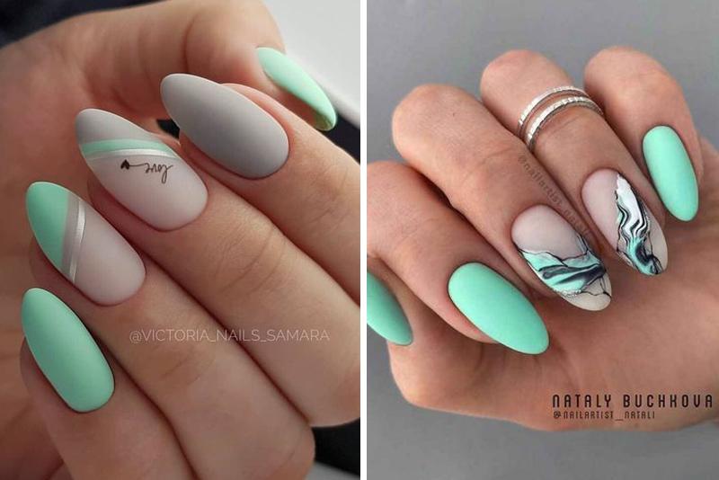 Pomysły na miętowe paznokcie – TOP 14 inspiracji
