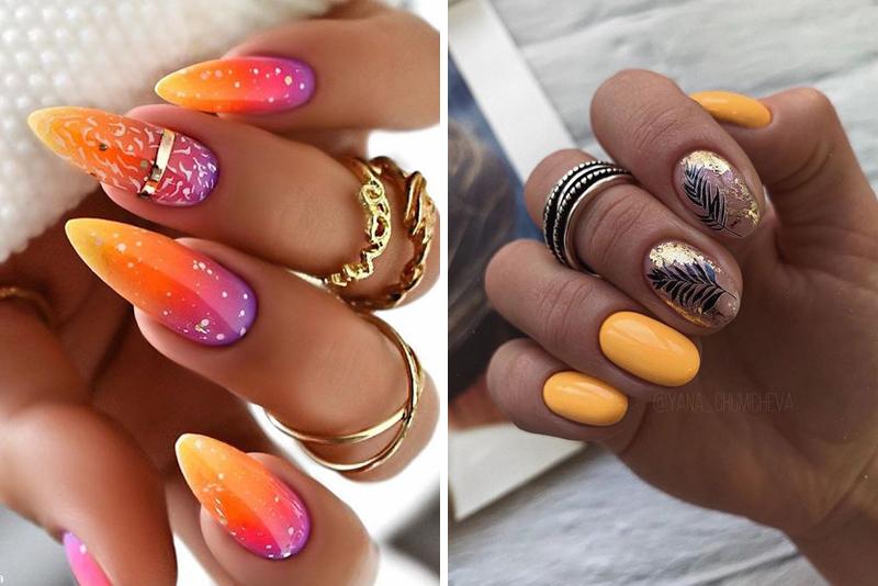 Inspiracje na pomarańczowe paznokcie – TOP 14 pomysłów
