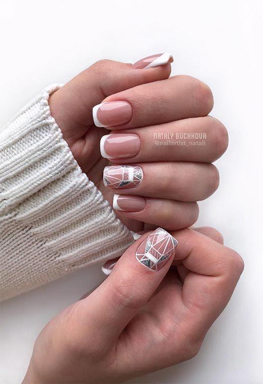 Eleganckie paznokcie z frenchem